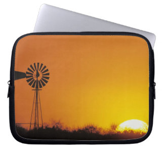 Windmill at sunset, Sinton, Texas, USA Laptop Sleeve