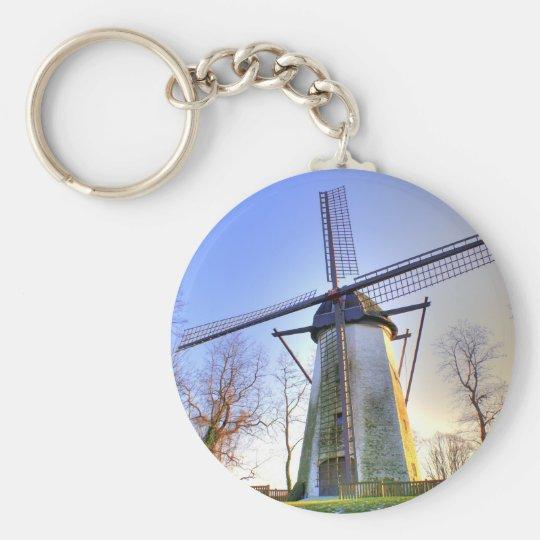 Windmill Basic Round Button Key Ring