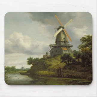 Windmill by a River Mouse Mat