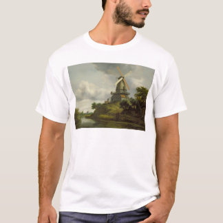 Windmill by a River T-Shirt