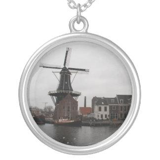 "Windmill ""De Adriaan"", Haarlem Silver Plated Necklace"