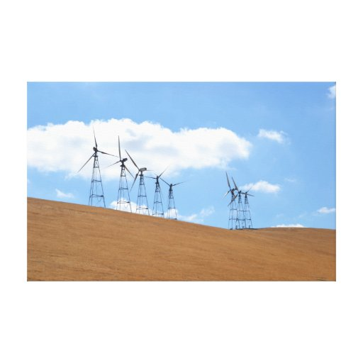 Windmill Farm in Northern California Canvas Prints
