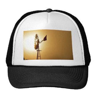 WINDMILL FOG SUN RURAL QUEENSLAND AUSTRALIA CAP