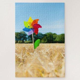 Windmill in a Corn Field