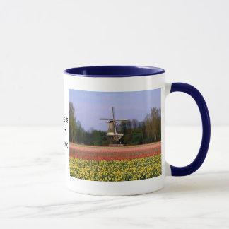 Windmill in the bulb fields mug