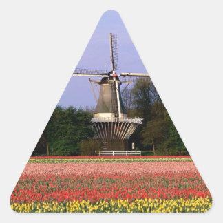 Windmill in the bulb fields triangle sticker