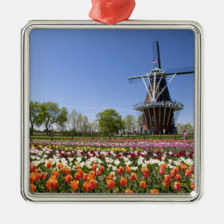 Windmill Island park with tulips in bloom at Christmas Ornament