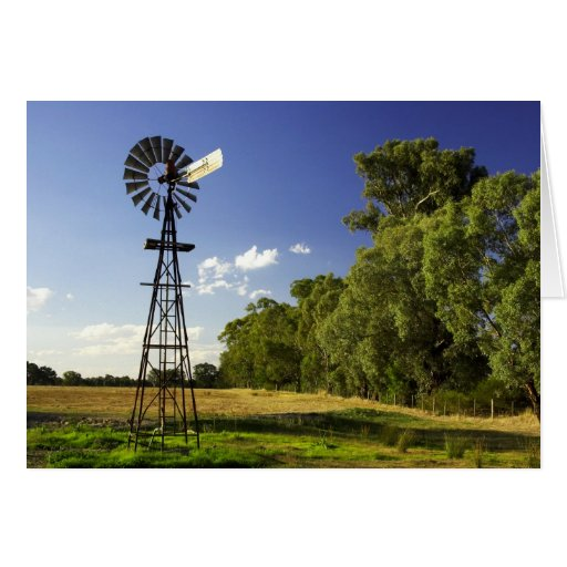 Windmill near Hume Highway, Victoria, Australia Card