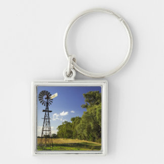 Windmill near Hume Highway, Victoria, Australia Key Ring