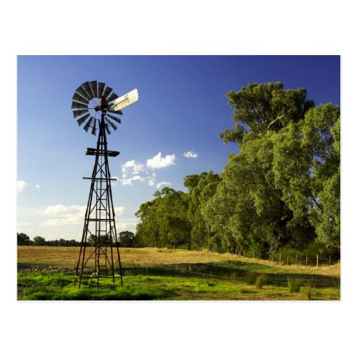 Windmill near Hume Highway, Victoria, Australia Postcards