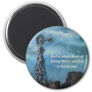 Windmill of Living Water 6 Cm Round Magnet
