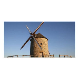 Windmill of Moidrey Normandy France Personalized Photo Card