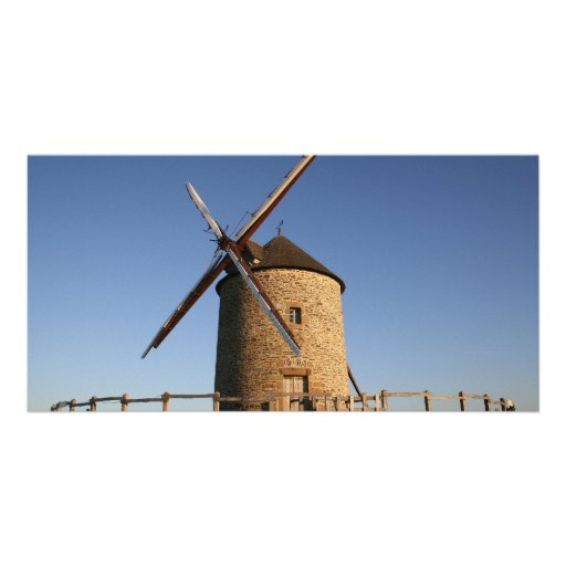 Windmill of Moidrey, Normandy, France Personalized Photo Card