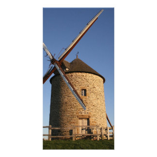 Windmill of Moidrey Normandy France Customized Photo Card