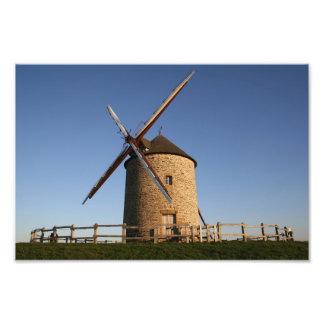 Windmill of Moidrey, Normandy, France Art Photo