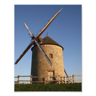 Windmill of Moidrey, Normandy, France Photograph
