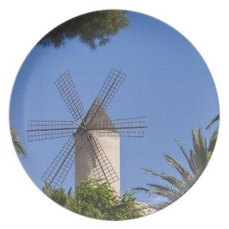Windmill, Palma, Mallorca, Spain Plate