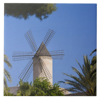 Windmill, Palma, Mallorca, Spain Tile