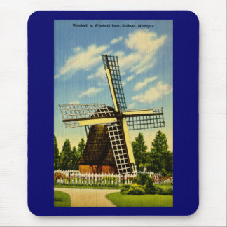 Windmill Park Holland, Michigan Vintage Mouse Pad
