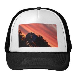 WINDMILL & PINK SUNSET IN RURAL AUSTRALIA CAP