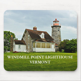 Windmill Point Lighthouse, Vermont Mousepad