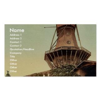 Windmill, Potsdam, Berlin, Germany rare Photochrom Business Card Templates