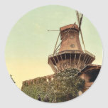 Windmill, Potsdam, Berlin, Germany rare Photochrom Round Stickers