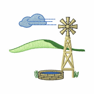 Windmill Scene Embroidered Jackets
