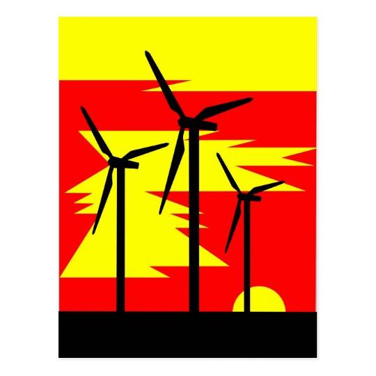 Windmill Sunrise Colour - Siemens Wind Power Postcard