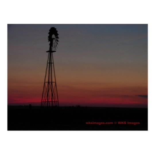 Windmill/ Sunset 6142007 Postcard