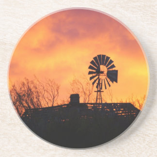 Windmill sunset coaster