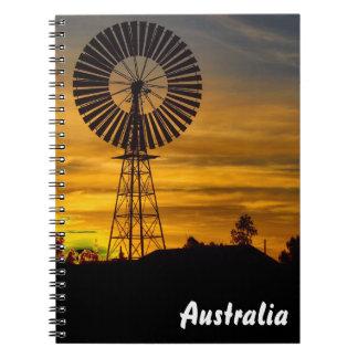 Windmill Sunset notebook