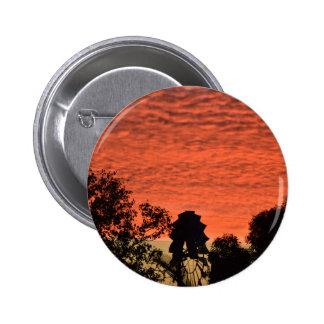 WINDMILL & SUNSET RURAL QUEENSLAND AUSTRALIA 6 CM ROUND BADGE