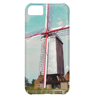 Windmill with red painted sails iPhone 5C case