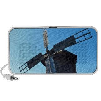 windmill wood wind mill rustic rural propeller mp3 speaker