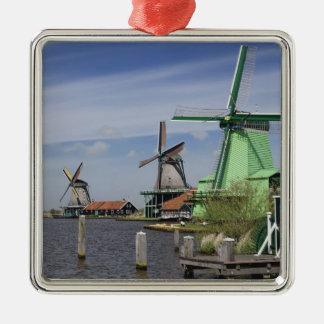 Windmill, Zaanse Schans, Holland, Netherlands 2 Christmas Ornament