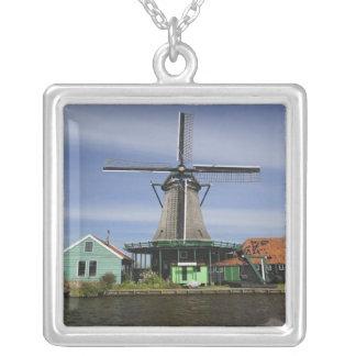Windmill, Zaanse Schans, Holland, Netherlands 3 Silver Plated Necklace