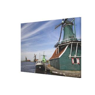 Windmill, Zaanse Schans, Holland, Netherlands Canvas Print