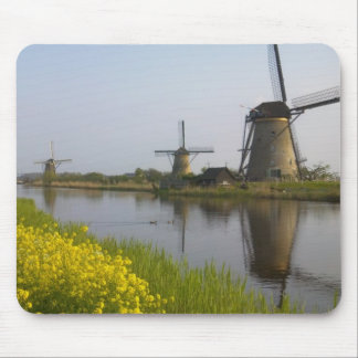 Windmills along the canal in Kinderdijk, Mouse Mat