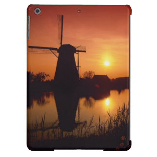 Windmills at sunset, Kinderdijk, Netherlands iPad Air Case