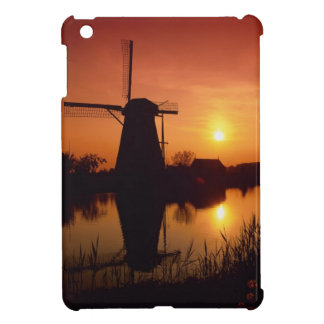 Windmills at sunset, Kinderdijk, Netherlands iPad Mini Covers