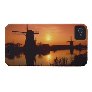 Windmills at sunset, Kinderdijk, Netherlands iPhone 4 Case-Mate Case