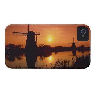 Windmills at sunset, Kinderdijk, Netherlands iPhone 4 Case-Mate Cases