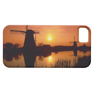 Windmills at sunset, Kinderdijk, Netherlands iPhone 5 Cases
