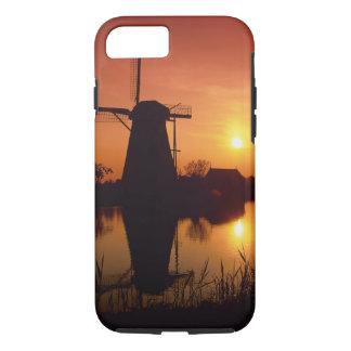 Windmills at sunset, Kinderdijk, Netherlands iPhone 8/7 Case