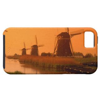 Windmills at sunset, Leidschendam, Netherlands Case For The iPhone 5