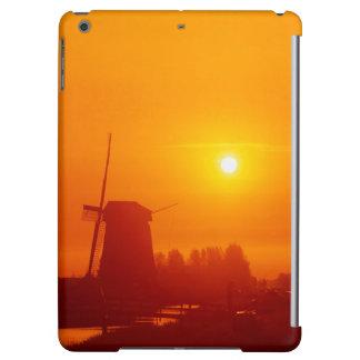 Windmills at sunset, Schermerhorn, Netherlands