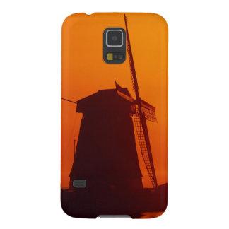Windmills at sunset, Schermerhorn, Netherlands Galaxy S5 Case