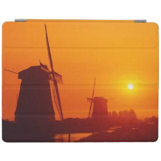 Windmills at sunset, Schermerhorn, Netherlands iPad Cover