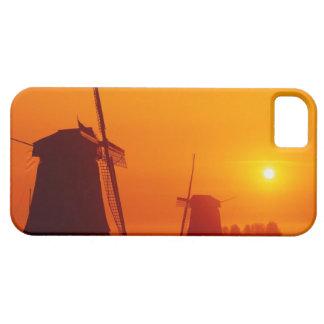 Windmills at sunset, Schermerhorn, Netherlands iPhone 5 Case